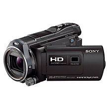 "Buy Sony PJ650VE HD 1080p Camcorder, 20.4MP, 12x Optical Zoom, GPS, 3"" LCD Screen with Projector Online at johnlewis.com"