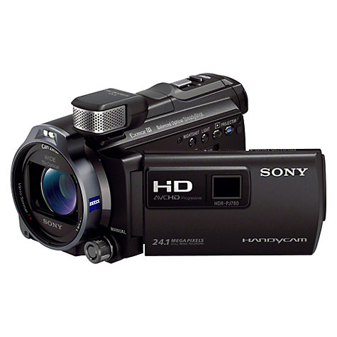 "Buy Sony PJ780VE HD 1080p Camcorder, 24.1MP, 10x Optical Zoom, GPS, 32GB, 3"" LCD Screen with Projector Online at johnlewis.com"