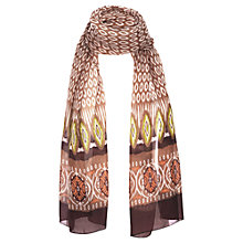 Buy Jigsaw Apache Print Scarf, Biscuit Online at johnlewis.com