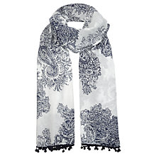 Buy Jigsaw Paisley Pom Pom Scarf Online at johnlewis.com