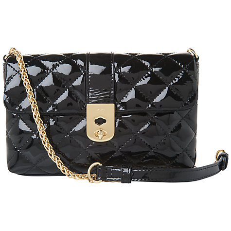 Buy Jaeger Kate Patent Across Body Handbag Online at johnlewis.com