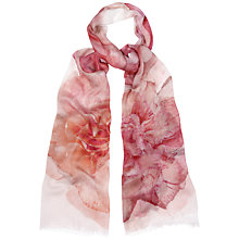 Buy Jaeger Watercolour Floral Scarf, Pink Online at johnlewis.com