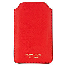 Buy MICHAEL Michael Kors Leather iPhone Case Online at johnlewis.com