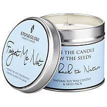 Buy Stoneglow Burn & Sow Forget Me Not Candle and Seeds Online at johnlewis.com