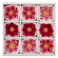 Buy John Lewis Floating Waterlily Candles, Pink, Medium, Pack of 9 Online at johnlewis.com