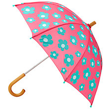 Buy Hatley Flowers Umbrella, Blue/Pink Online at johnlewis.com