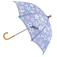 Buy Hatley Crafty Flower Umbrella, Purple Online at johnlewis.com