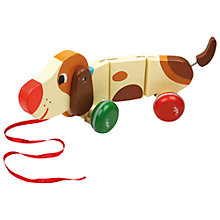 Buy Vilac Basile the Dog Pull Toy Online at johnlewis.com