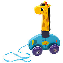 Buy Vilac Leonie the Giraffe Pull Toy Online at johnlewis.com