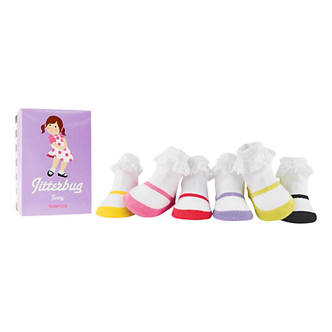 Buy Trumpette Jitterbug Jenny Socks, Pack of 6, Multi Online at johnlewis.com