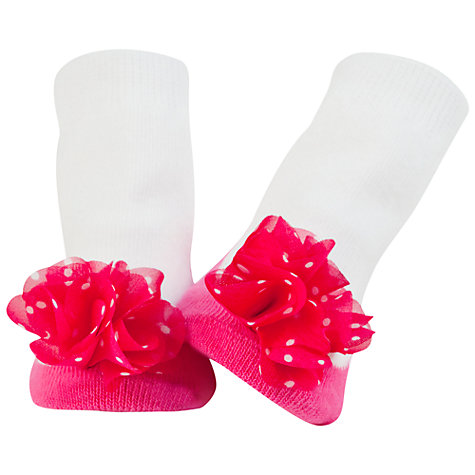 Buy Trumpette Juliette's Socks, Fuchsia Online at johnlewis.com