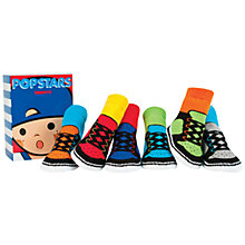 Buy Trumpette Popstar's Socks, Pack of 6, Multi Online at johnlewis.com