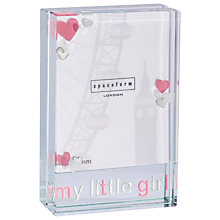 Buy Spaceform My Little Girl Frame Online at johnlewis.com