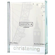Buy Spaceform Christening Frame, Large Online at johnlewis.com