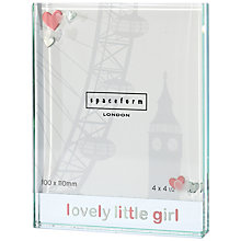 Buy Spaceform Lovely Little Girl Frame, Large Online at johnlewis.com