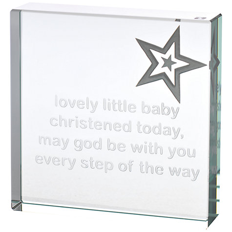 Buy Spaceform Christening Paperweight, Medium Online at johnlewis.com