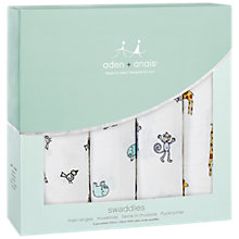 Buy Aden & Anais Swaddle Baby Blankets, Pack of 4, Jungle Jam Online at johnlewis.com