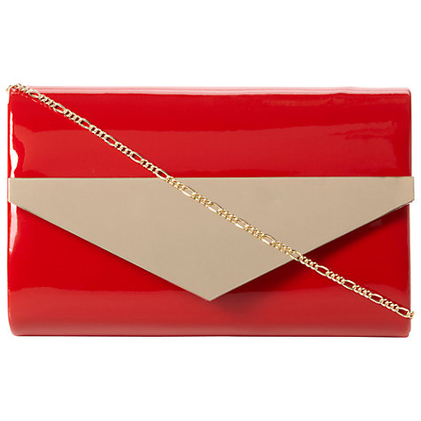 Buy Dune Brimes Patent Metal Trim Clutch Bag Online at johnlewis.com