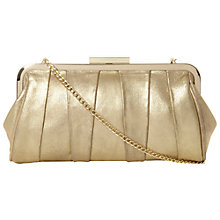 Buy Dune Buffyina Suede Clutch Bag, Champagne Online at johnlewis.com