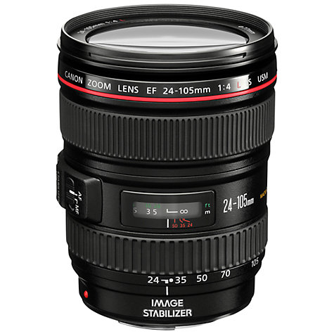 Buy Canon EF 24-105mm f/4L IS USM Telephoto Lens Online at johnlewis.com
