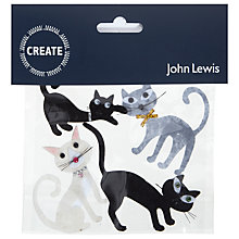 Buy John Lewis Paper Toppers, Pack of 4, Cats Online at johnlewis.com