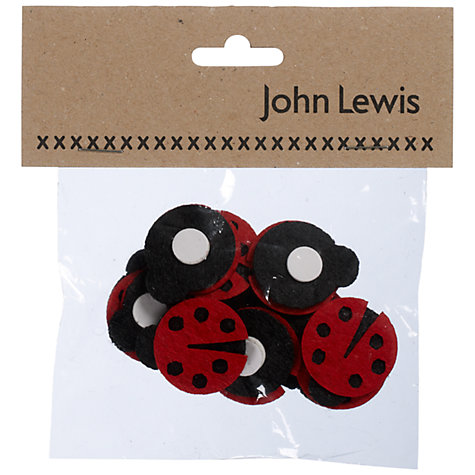 Buy John Lewis Paper Toppers, Pack of 12, Ladybirds Online at johnlewis.com