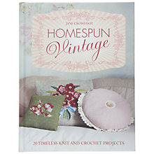 Buy Homespun Vintage by Jane Crowfoot Craft Book Online at johnlewis.com