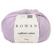 Buy Rowan Softknit Cotton Yarn, 50g, Lupin 575 Online at johnlewis.com