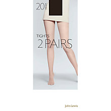 Buy John Lewis 20 Denier Tights, Pack of 2 Online at johnlewis.com