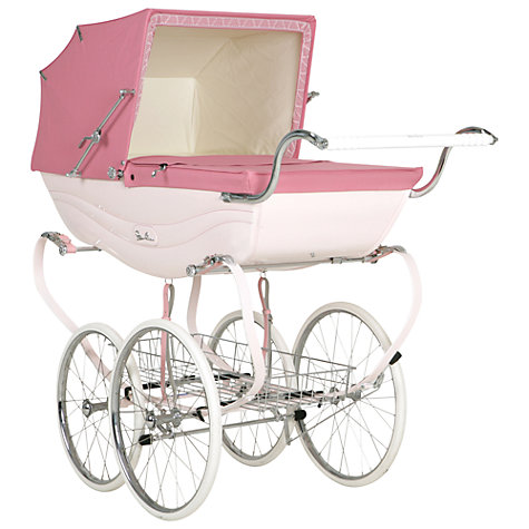 Buy Silver Cross Balmoral Pram, Pink Online at johnlewis.com