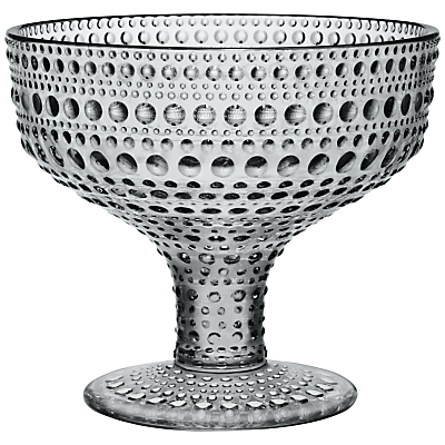 Image of Iittala Kastehelmi Footed Bowl, H10cm, Grey