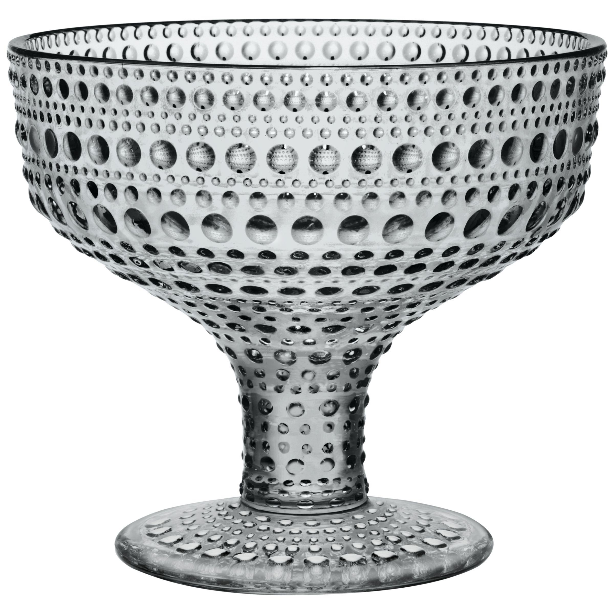 Iittala Iittala Kastehelmi Footed Bowl, H10cm, Grey