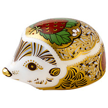 Buy Royal Crown Derby Strawberry Hedgehog Paperweight Online at johnlewis.com