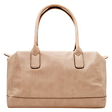 Buy Mango Faux Leather Bowling Bag, Nude Online at johnlewis.com