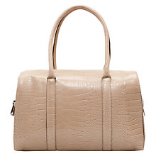 Buy Mango Faux Croc Bowling Handbag Online at johnlewis.com