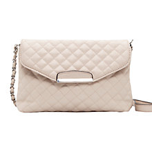 Buy Mango Quilted Envelope Shoulder Bag, Nude Online at johnlewis.com