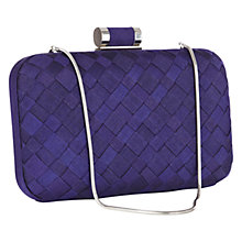 Buy Coast Tess Lace Clutch, Indigo Online at johnlewis.com