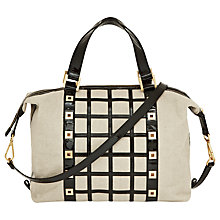 Buy Reiss Lattice Eyelet Handbag, Natural Online at johnlewis.com