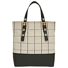 Buy Reiss Woven Lattice Tote Handbag, Natural Online at johnlewis.com
