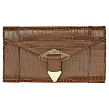Buy Reiss Enamel Diamond Clutch Handbag, Tan Online at johnlewis.com