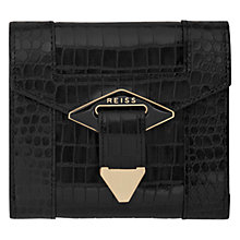 Buy Reiss Clemente Enamel Diamond Detail Purse, Black Online at johnlewis.com