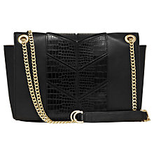 Buy Reiss Panel Shoulder Bag, Black Online at johnlewis.com