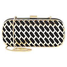 Buy Reiss Cut Out Metal Clutch Handbag, Black Online at johnlewis.com