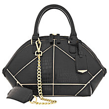 Buy Reiss Panel Detail Zip Handbag, Black Online at johnlewis.com