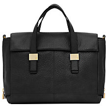 Buy Reiss Cube Zip Shoulder Bag, Black Online at johnlewis.com
