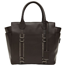 Buy Reiss Luggage Tag Tote Bag, Charcoal Online at johnlewis.com