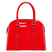 Buy Mango Patent Tote Handbag, Coral Online at johnlewis.com