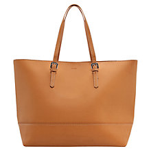 Buy Mango Buckle Shopper Handbag, Tan Online at johnlewis.com