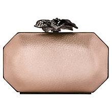 Buy Reiss Embellished Evening Clutch, Rose Gold Online at johnlewis.com