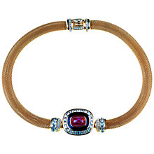 Buy Alice Joseph Vintage 1980s Grosse Gilt Diamante and Carnelian Collar Online at johnlewis.com